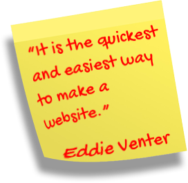 quickest and easiest way to make a website